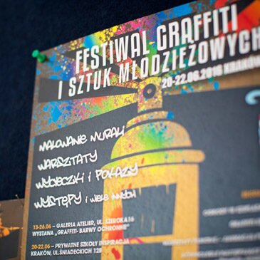Festiwal Graffiti i Sztuk Młodzieżowych – Kraków 2016 – Program i opis warsztatów