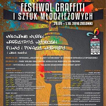 Startuje Festiwal Graffiti i Sztuk Młodzieżowych – Zielonki 2016. Zapraszamy!