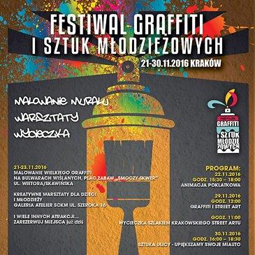 Startuje kolejna edycja Festiwalu Graffiti i Sztuk Młodzieżowych! Krakowski Kazimierz 21-30.11.2016