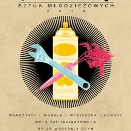 Murale, warsztaty, wycieczka, pokazy-Festiwal Sztuk Młodzieżowych 2018 – Wola Zachariaszowska