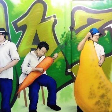 Graffiti i Jazz na Festiwalu Sztuk Młodzieżowych 2018- Wola Zachariaszowska- foto