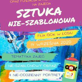 Sztuka nie szablonowa – zmalujmy coś w Łosiu – 19.09.2020